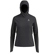 Odlo Midlayer Millennium Element - maglia con cappuccio running - donna, Dark Grey