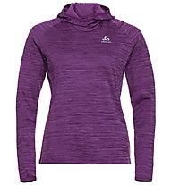 Odlo Midlayer Millennium Element - maglia con cappuccio running - donna, Violet