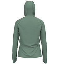 Odlo Midlayer Millennium Element - maglia con cappuccio running - donna, Green
