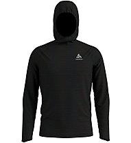 Odlo Midlayer Millennium Element - maglia running con cappuccio - uomo, Black