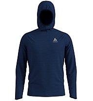 Odlo Midlayer Millennium Element - maglia running con cappuccio - uomo, Dark Blue