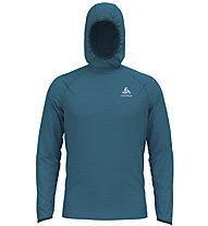 Odlo Midlayer Millennium Element - maglia running con cappuccio - uomo, Blue
