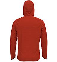 Odlo Midlayer Millennium Element - maglia running con cappuccio - uomo, Dark Orange