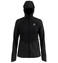 Odlo Millennium Yakwarm Midlayer - giacca in pile sci di fondo - donna, Black