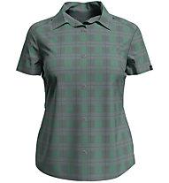 Odlo Myrthen Blouse S/S - Damen-Kurzarmhemd, Grey/Green