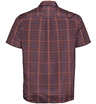 Odlo Mythen - camicia a maniche corte - uomo, Blue/Orange