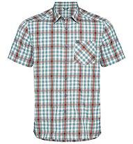 Odlo Mythen - camicia a maniche corte - uomo, Light Blue/Red