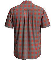 Odlo Mythen Shirt S/S - Herren-Kurzarmhemd, Red/Grey