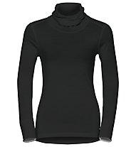 Odlo Natural 100% Merino Warm turtle neck - Funktionsshirt Langarm - Damen, Black