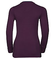 Odlo Natural 100% Merino Warm - Funktionsshirt Langarm - Damen, Purple