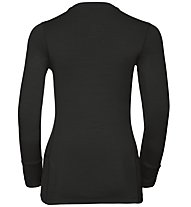 Odlo Natural 100% Merino Warm - Funktionsshirt Langarm - Damen, Black