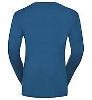 Odlo Natural 100% Merino Warm - Funktionsshirt Langarm - Herren, Blue