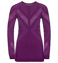 Odlo Natural + Kinship Warm Baselayer - Langarmshirt - Damen, Purple