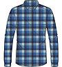 Odlo Nikko Check - camicia a maniche lunghe trekking - uomo, Blue