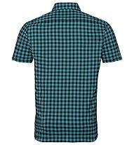 Odlo Nikko Check - camicia a maniche corte trekking - uomo, Light Blue