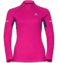 Odlo Omnius 1/2 Zip - Runningpullover mit Reißverschluss - Damen, Pink