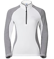 Odlo Pact Midlayer 1/2 Zip - Fleecepullover - Damen, White