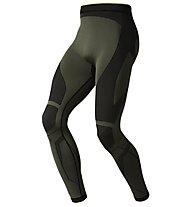 Odlo Evolution Warm Greentec Pants - Calzamaglia, Four leaf clover/Black
