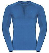 Odlo Performance Warm Cn LS - maglietta tecnica - uomo, Light Blue
