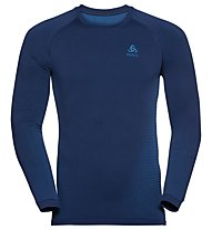 Odlo Performance Warm Eco Baselayer - Langarmshirt - Herren, Blue