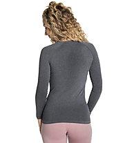 Odlo Performance Warm Eco Baselayer - maglietta tecnica a manica lunga - donna, Grey