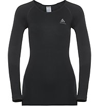 Odlo Performance Warm Top Cn - maglietta tecnica - donna, Black