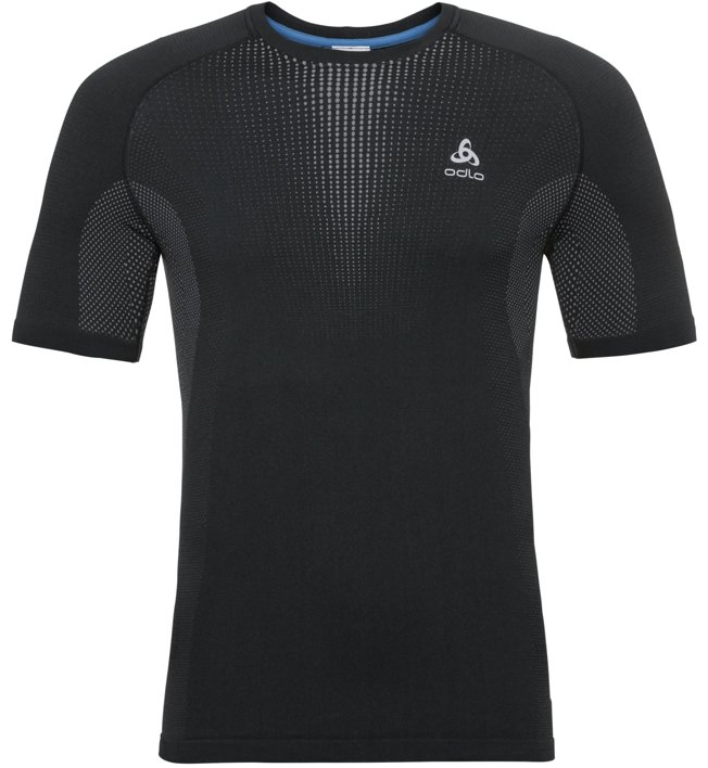 Odlo Performance Warm CN SS - maglietta tecnica - uomo, Black