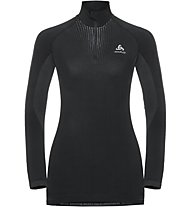Odlo Performance Warm Turtlen - maglietta tecnica - donna, Black