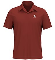 Odlo Cardada - polo trekking - uomo, Dark Red