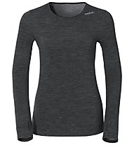 Odlo Revolution TW Warm Shirt LS crew neck, Black Melange