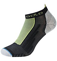 Odlo Running Low Cut - calzini corti running - uomo, Black/Green