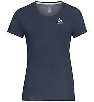 Odlo S/S Crew Neck F Dry - T-shirt - donna , Dark Blue