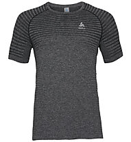 Odlo Seamless Element Bl Top Crew Neck - Laufshirt kurz - Herren, Grey