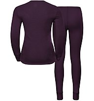 Odlo Set Evolution Warm - set intimo sportivo - donna, Violet