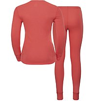 Odlo Set Evolution Warm - set intimo sportivo - donna, Orange