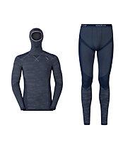 Odlo Blackcomb Evolution Unterwäsche-SET Shirt mit Facemask +Hose