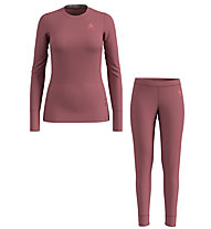 Odlo Set Long Merino 100% Warm - Komplet Funktionsunterwäsche - Damen, Red