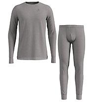 Odlo Set Long Merino 100% Warm - set intimo - uomo, Grey