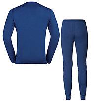 Odlo Set Long Merino 100% Warm - set intimo - uomo, Blue