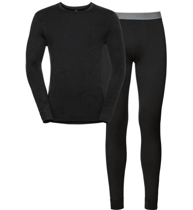 Odlo Set Long Natural Warm Merino - Unterwäsche Komplet - Herren, Black