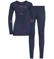 Odlo Winter Specials Performance Evolution Warm - set intimo - donna, Blue