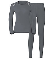 Odlo Set Shirt l/s Pants Evolution WARM, Grey
