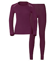 Odlo Set Shirt l/s Pants Evolution WARM, Pink