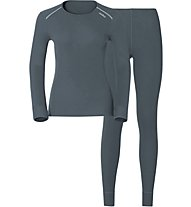 Odlo Set Evolution Warm - set intimo sportivo - donna, Grey