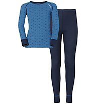 Odlo Set Longsleeve + Pants Warm Kids, Directoire Blue/Navy New