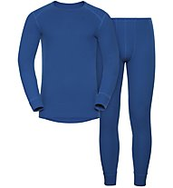 Odlo Set Warm - completo intimo - uomo, Electric Blue
