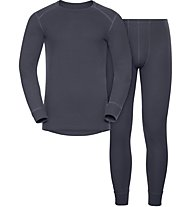 Odlo Set Shirt l/s Pants WARM - Sportunterwäsche-Komplet, Dark Blue