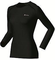 Odlo Shirt L/S Warm - Funktionsshirt Langarm - Damen, Black
