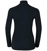Odlo Warm Shirt turtle neck 1/2 Zip - Funktionsshirt Langarm - Damen, Black