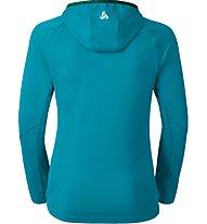 Odlo Sillian Hoody Midlayer 1/2 Zip Langlauf-Kapuzenpullover für Damen., Light Blue